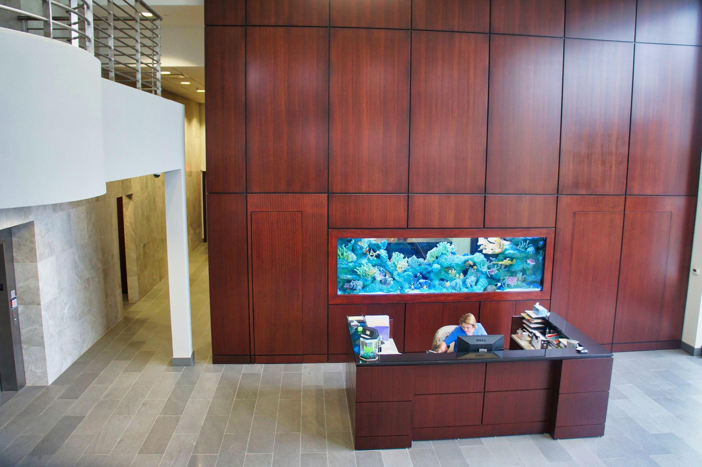 Corporate Office Aquarium – Lobby-facing Side