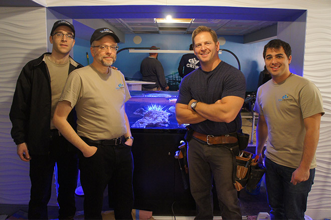 Aqua Creations staff and members of the Man Caves crew