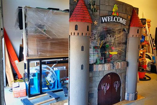 Custom castle aquarium display