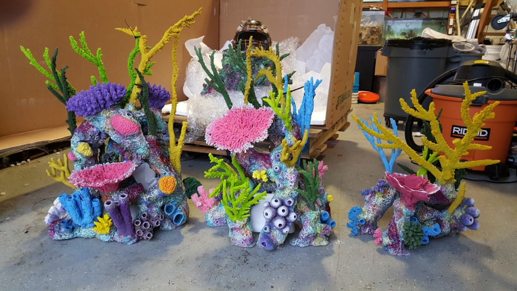 Custom fabricated coral reef inserts