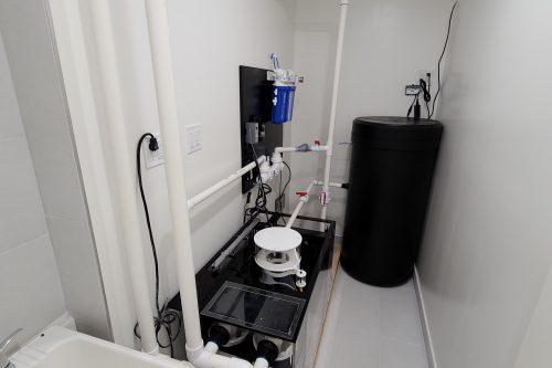 Aquarium filter room